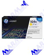 HP oryginalny toner CE252A; HP 504A; 7000s; Hewlett-Packard; Color LaserJet CP3525s-yellow