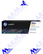 HP oryginalny toner CF542X; HP 203X; high capacity; 2500s; Hewlett-Packard; Color LaserJet Pro M254dw; nw; M280nws-yellow