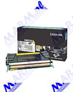 Lexmark oryginalny toner 24B5703; high capacity; 10000s; Lexmark; XS748; XS748des-return-yellow