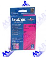 Brother oryginalny ink / tusz LC-1100HYM; high capacity; 750s; Brother; DCP-6690CW; MFC-6490CWs-magenta