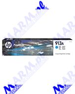 HP oryginalny ink / tusz F6T77AE; HP 913A; high capacity; 3000s; Hewlett-Packard; PageWide 325; 377; Pro 452; Pro 477s-37ml-cyan