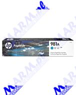 HP oryginalny ink / tusz J3M68A; HP 981A; 6000s; Hewlett-Packard; PageWide Enterprise Color 556; MFP 586s-70ml-cyan