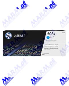 HP oryginalny toner CF361X; HP 508X; high capacity; 9500s; Hewlett-Packard; Color LaserJet Enterprise M552dn; M553dn; 553n; 553xs-cyan