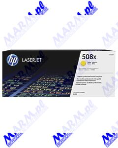HP oryginalny toner CF362X; HP 508X; high capacity; 9500s; Hewlett-Packard; Color LaserJet Enterprise M552dn; M553dn; 553n; 553xs-yellow