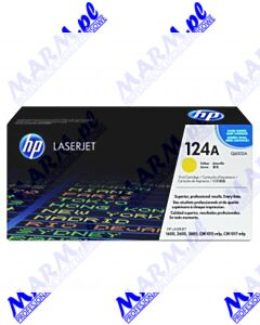 HP oryginalny toner Q6002A; HP 124A; 2000s; Hewlett-Packard; Color LaserJet 1600; 2600n; 2605s-yellow