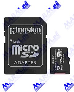 Kingston karta Canvas Select Plus; 128GB; micro SDXC; SDCS2/128GB; UHS-I U1 (Class 10); z adapterm; A1; Kingston