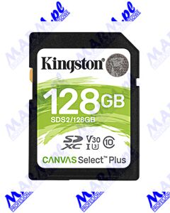 Kingston karta Canvas Select Plus; 128GB; SDXC; SDC2/128GB; UHS-I U3 (Class 10); A1; Kingston
