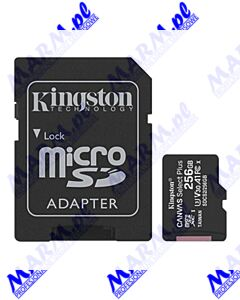 Kingston karta Canvas Select Plus; 256GB; micro SDXC; SDCS2/256GB; UHS-I U1 (Class 10); z adapterm; A1; Kingston