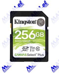 Kingston karta Canvas Select Plus; 256GB; SDXC; SDC2/256GB; UHS-I U3 (Class 10); A1; Kingston