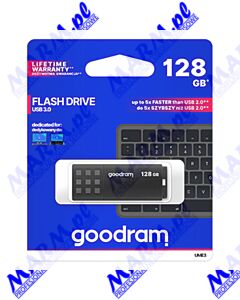 Goodram USB flash disk; USB 3.0 (3.2 Gen 1); 128GB; UME3; UME3-1280K0R11; USB A; z osłoną; GOODRAM-black