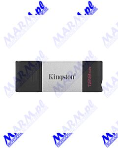 Kingston USB flash disk; USB 3.0 (3.2 Gen 1); 128GB; DataTraveler 80; DT80/128GB; USB C; Kingston-black