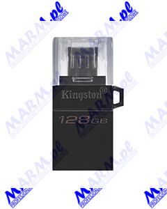 Kingston USB flash disk OTG; USB 3.0 (3.2 Gen 1); 128GB; Data Traveler microDuo3 G2; DTDUO3G2/128GB; USB A / USB Micro B; Kingston-black