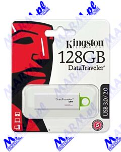 Kingston USB flash disk; USB 3.0 (USB 3.2 Gen 1); 128GB; Data Traveler DTI-G4; zielona; DTIG4/128GB; Kingston