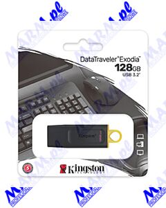 Kingston USB flash disk; USB 3.0 (3.2 Gen 1); 128GB; DataTraveler Exodia; DTX/128GB; z osłoną; Kingston-black