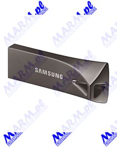 Samsung USB flash disk; USB 3.0 (3.2 Gen 1); 128GB; BAR Plus; MUF-128BE4/EU; USB A; z oczkiem na brelok; Samsung-black