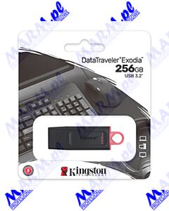 Kingston USB flash disk; USB 3.0 (3.2 Gen 1); 256GB; DataTraveler Exodia; DTX/256GB; z osłoną; Kingston-black