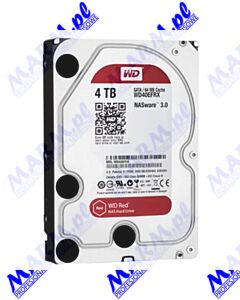 "Dysk NAS; Western Digital; 3.5""; 4000GB; 4TB; WD Red; SATA III/SATA II; IntelliPower; WD40EFRX; Western Digital"