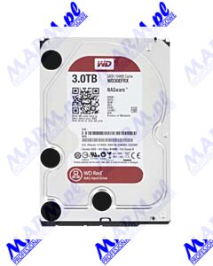 "Dysk twardy; Western Digital; 3.5""; 3000GB; 3TB; Red Raid Editon; SATA III; 5400; WD30EFRX; IntelliPower; Western Digital-black"