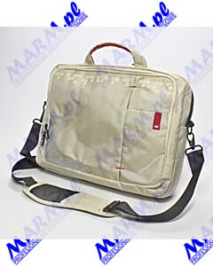 "Torba na notebook 15; 6""; beżowy z czerwonymi elementami; nylon; NT007 typ Crown; No Name-beige"