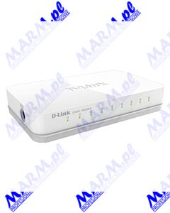 D-LINK switch GO-SW-8E 100Mbps; plug-and-play; D-LINK